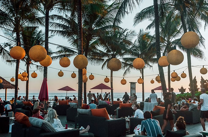 Enjoy a sundowner at Woobar at W Bali