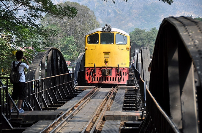 The famous Bridge on the River Kwai, Thailand