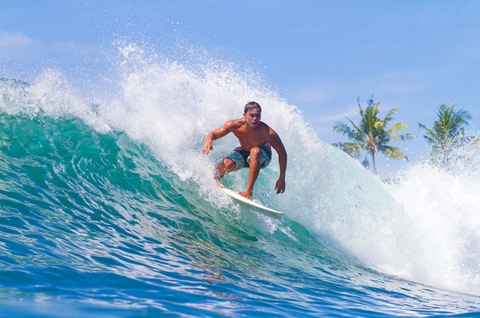 Bali's shimmering waters are just made for surfing