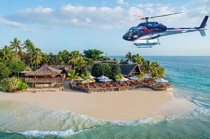 Arrive in style with a tempting new day trip from Pacific Island Air. Photo: Castaway Island Resort