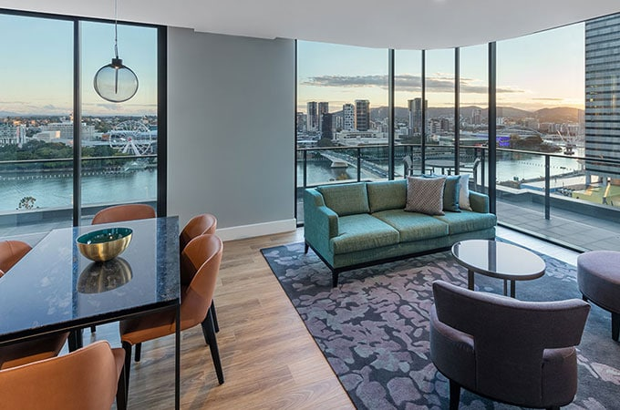 That VIEW! Book a thoroughly modern two-bedroom Premier Room with Balcony for these vistas