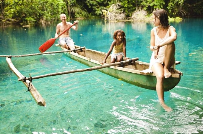 Kayak to a blue hole