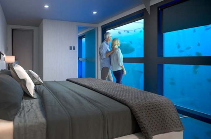 The new Reefsleep Suites will create an unparalleled underwater experience Photo: Cruise Whitsundays