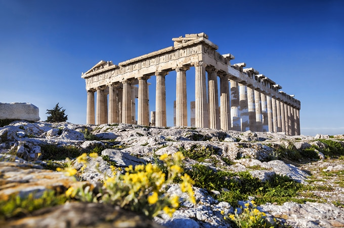 The world-famous Parthenon in Athens