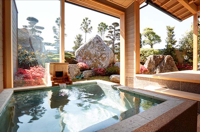 Immerse yourselves in a mineral-rich 'onsen' (hot spring bath) at Zaborin, Hokkaido