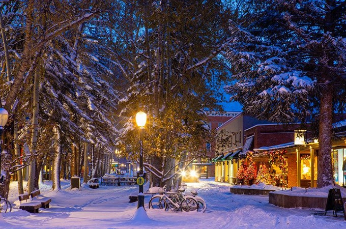 What a magical sight! Aspen Colorado welcomes two metres of early snow. Photo: Jeremy Swanson