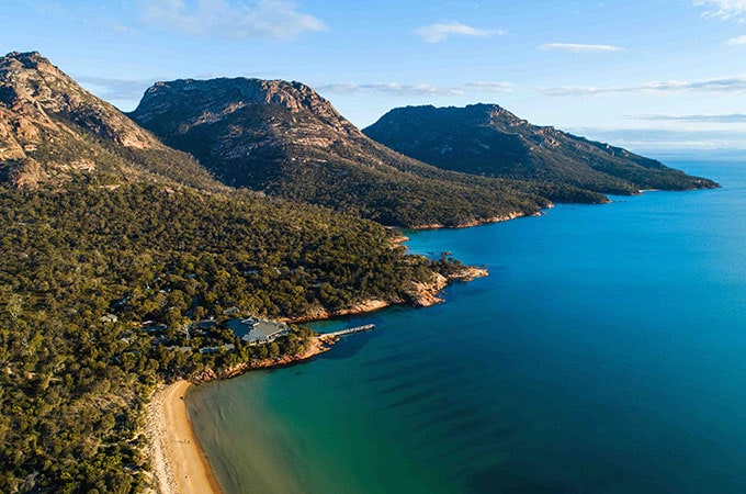 We could cope with this. Freycinet Lodge on Tasmania's east coast is the departure point for the Freycinet Walking Tour