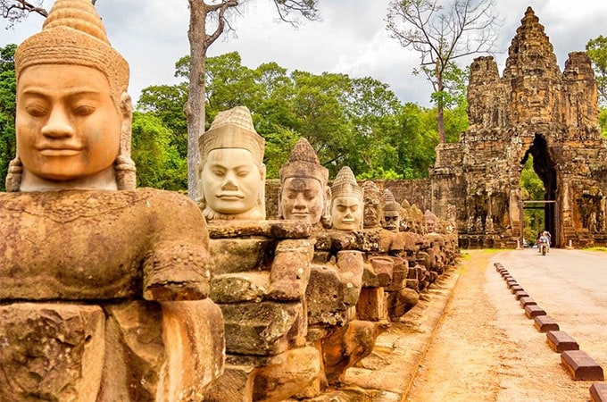 Discover the mystical allure of Cambodia's Angkor Wat temple complex, dating back to the 12th century