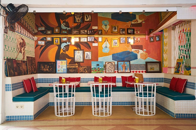 Motel Mexicola is a riot of colour with a party vibe to match