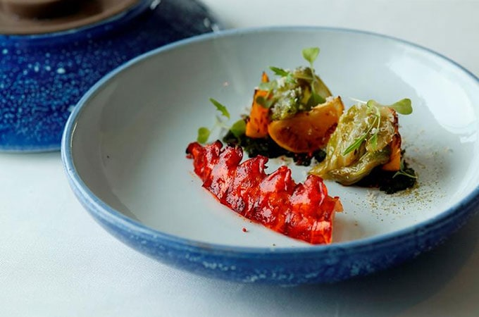 Feast your eyes on this! Blue Lobster with Cabbage & Mikan at Esterre at Palace Hotel Tokyo