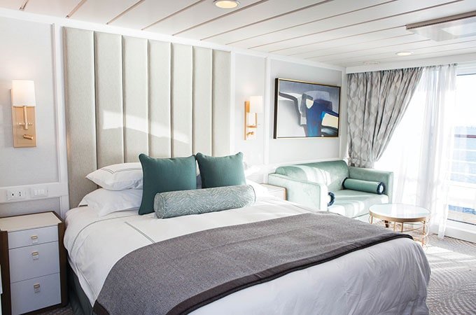 Fresh luxury: the spacious, beautifully appointed penthouse suite aboard Regatta