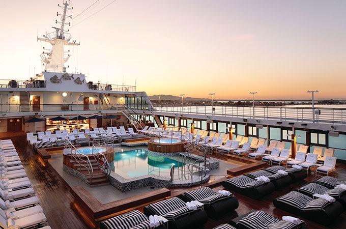 What a way to relax: Regatta's Pool Deck