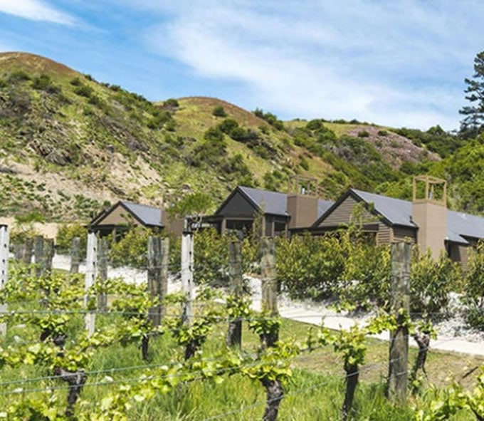 The villas feature private sunlit courtyards with beautiful views across the vineyard