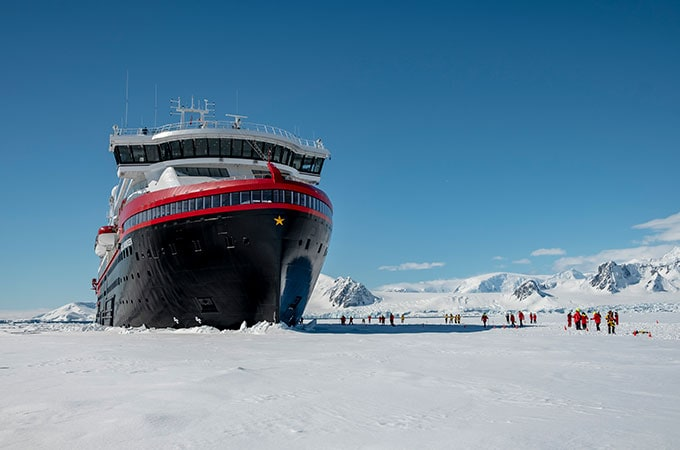 Step aboard the world's first hybrid expedition ship, the magnificent MS Roald Amundsen. Photo: © Andrea Klaussner/Hurtigruten