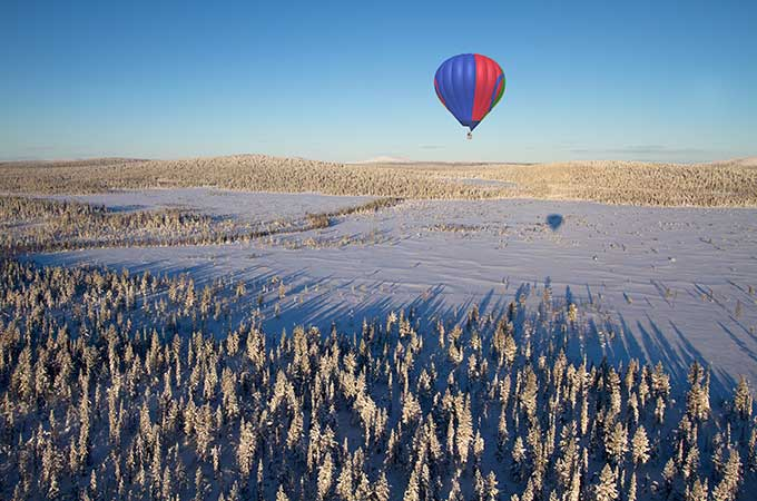 Love Arctic landscapes? The new Lapland Ballooning team will also be running daytime expedition flights over the spectacular Arctic wilderness. Photo: Lapland Ballooning