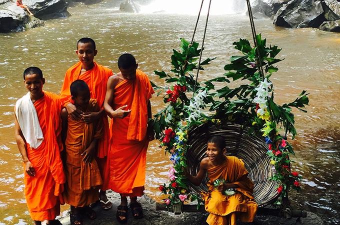 monks at kullen falls