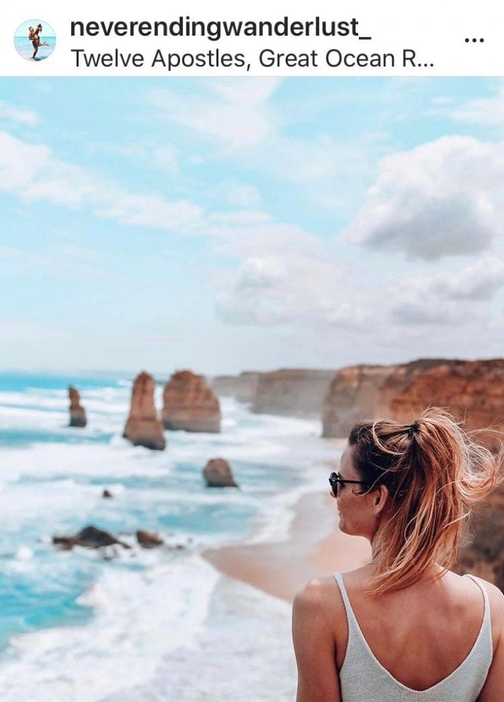 The best is in our backyard. The Great Ocean Road is the second most Instagrammed road trip in the world. Photo: @neverendingwanderlust_ via Instagram