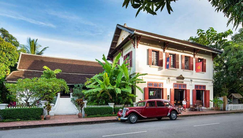 Boutique hotel 3 Nagas is set in colonial-era houses in Luang Prabang