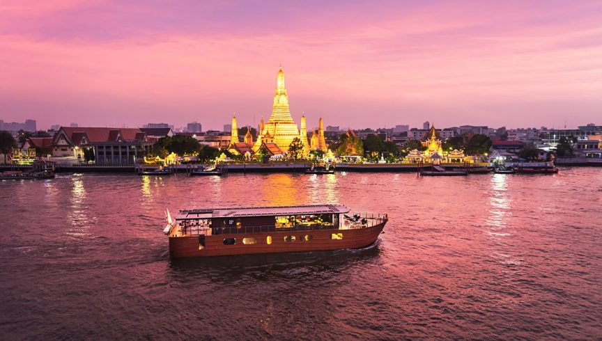 Cruise the Chao Phraya River in complete luxury, just as Thai royals did centuries ago. Photo: Loy Pela Voyages