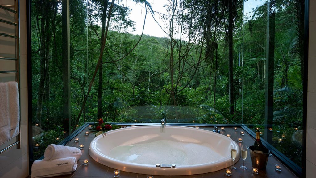 Crystal Creek Rainforest Retreat,  breathtaking baths with a view in Australia
