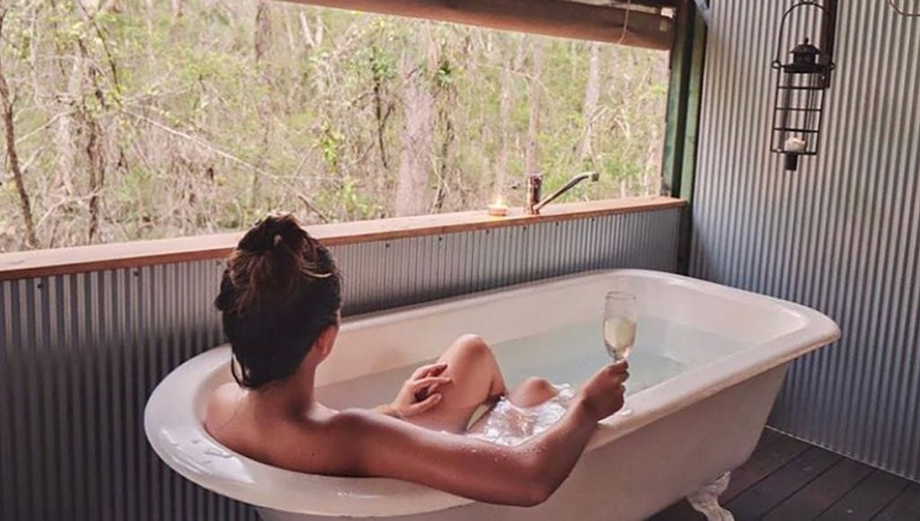 Paperbark camp, breathtaking baths with a view in Australia