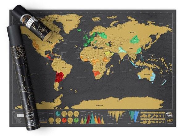 25 gift ideas, world scratch map